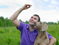 Man And Dog Stock Photography