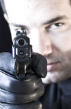 Man And Gun 02 Royalty Free Stock Photo