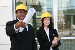 Man And Woman Architects Royalty Free Stock Images