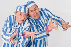 Free Man And Woman Prisoners Stock Photo - 5548730