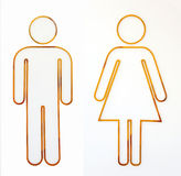 Man And Woman Sign Royalty Free Stock Images