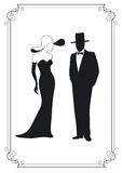 Man And Woman Silhouette Royalty Free Stock Images
