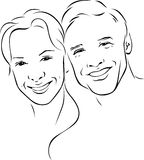 Man And Woman - Young Couple Stock Photos