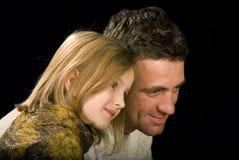 The man ang his daughter stock photos