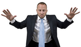 Man in anger Stock Photography
