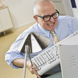Man Angry at Computer Stock Photo