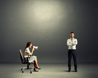 Man and angry emotional woman Stock Images