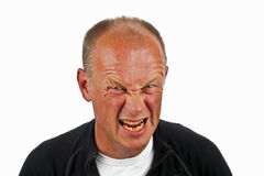 Man with angry face. Man with angry facial expression Stock Photos