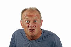 Man with angry facial expression Royalty Free Stock Photos