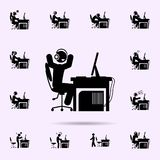 man angry icon. gamer icons universal set for web and mobile royalty free illustration