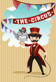 Man and animal show at circus Royalty Free Stock Photography