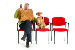 Man with animals Stock Photography