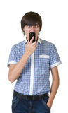man answering the phone Royalty Free Stock Photography