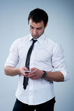 Man answering the phone Royalty Free Stock Images