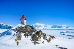 Man in the Antarctica. Royalty Free Stock Photography