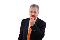 Man and apple Royalty Free Stock Image