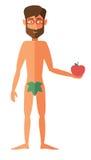 Man apple adam Stock Photo