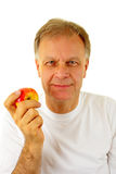Man with an apple Royalty Free Stock Photo