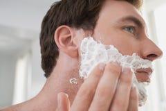 Man Applying Shaving Cream Royalty Free Stock Photo
