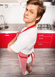Man in apron Royalty Free Stock Photos