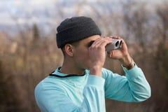 Aqua Binocular stock images