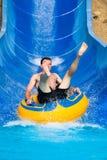 Man at aqua park Stock Images