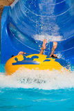Man at aqua park Stock Photography
