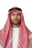 Man in Arabic headdress. stock photos