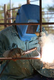 Man Arc welder Royalty Free Stock Photos