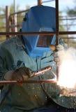Man Arc welder royalty free stock photos