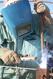 Man Arc welding Royalty Free Stock Photo