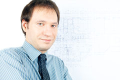 Man architect presenting a project Stock Photos