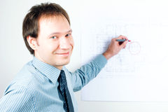 Man architect presenting a project Stock Photography