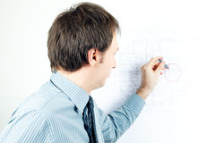 man architect presenting a project Royalty Free Stock Photo