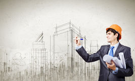 Man architect Royalty Free Stock Photos