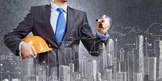 Man architect Stock Image