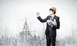 Man architect Stock Images