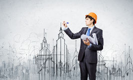 Man architect Stock Image