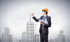 Man architect Stock Images