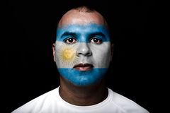 Man with Argentina flag Stock Photo