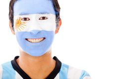 Man with Argentinean flag Stock Image