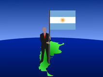 Man with Argentinian flag Royalty Free Stock Image