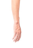 Man arm with blood veins on white background with clipping path,. Health care and medical concept Royalty Free Stock Image