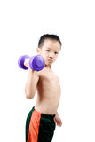 Man arm and dumbbell Stock Photography