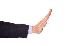 Man arm makes gesture No Stock Image
