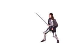 The man in armor. Knight. Stock Photos