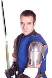 The man in armor. Knight. Royalty Free Stock Images