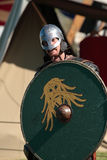 Man in armor viking Stock Photo