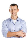 Man with arms crossed Royalty Free Stock Photo