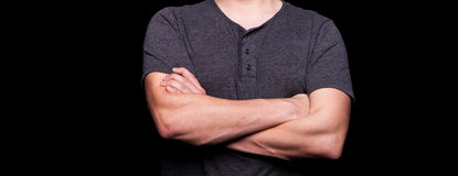 Man With Arms Crossed Royalty Free Stock Photography
